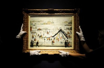 UK — Art — Paintings by L.S. Lowry go on auction at Christie's